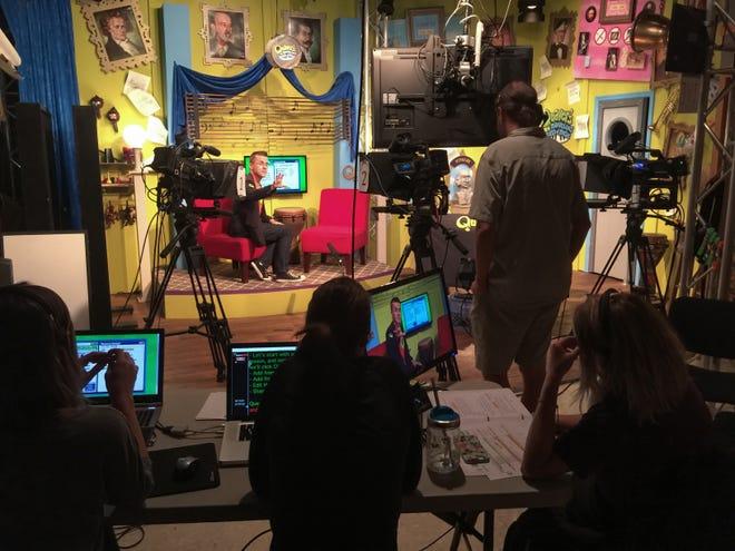 Quaver Music staff films cofounder Graham Hepburn for its lesson for digital music curriculum.
