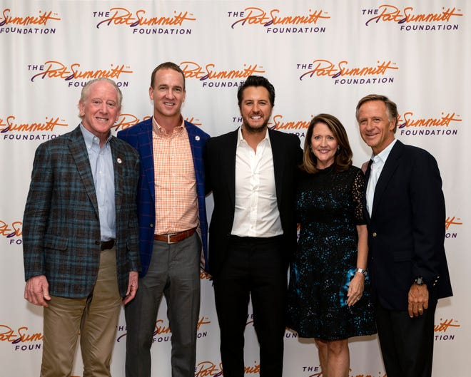 Archie Manning, Peyton Manning, Luke Bryan, First Lady Chrissy Haslam and Gov. Bill Haslam joined forces Wednesday to raise money for University of Tennessee basketball legend Pat Summitt's foundation.