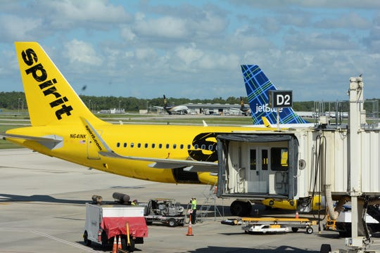 Cargo is loaded onto a Spirit flight. RSW, the Southwest Florida Regional Airport, brought over 8.8 million people to the area last year.