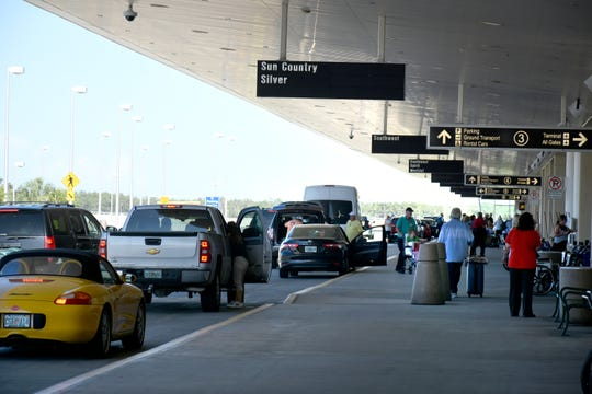 Passengers arrive at the upper departures deck. RSW, the Southwest Florida Regional Airport, brought over 8.8 million people to the area last year.