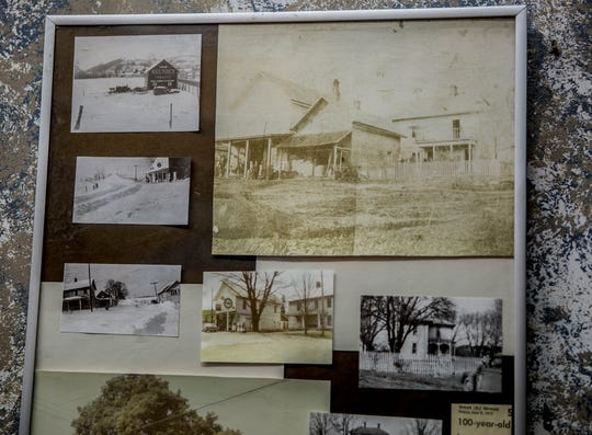 Photos of Glenn's Market's original building, across the street from where it is now. The store has been around since the 1800s.