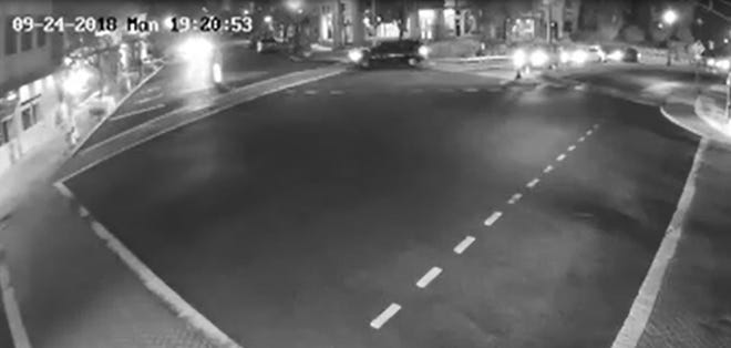 Surveillance footage of a Chevy Trailblazer wanted in a fatal hit-and-run in Ridgewood Sept. 24, 2018.