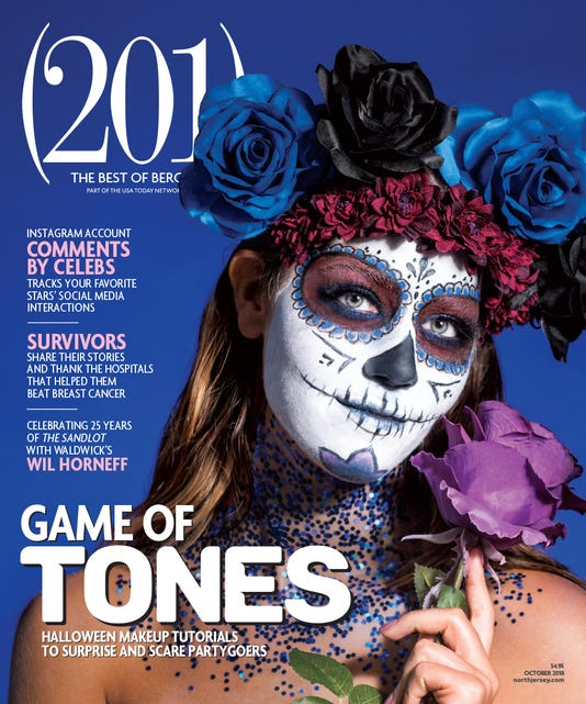 (201) Magazine October Cover Halloween Makeup