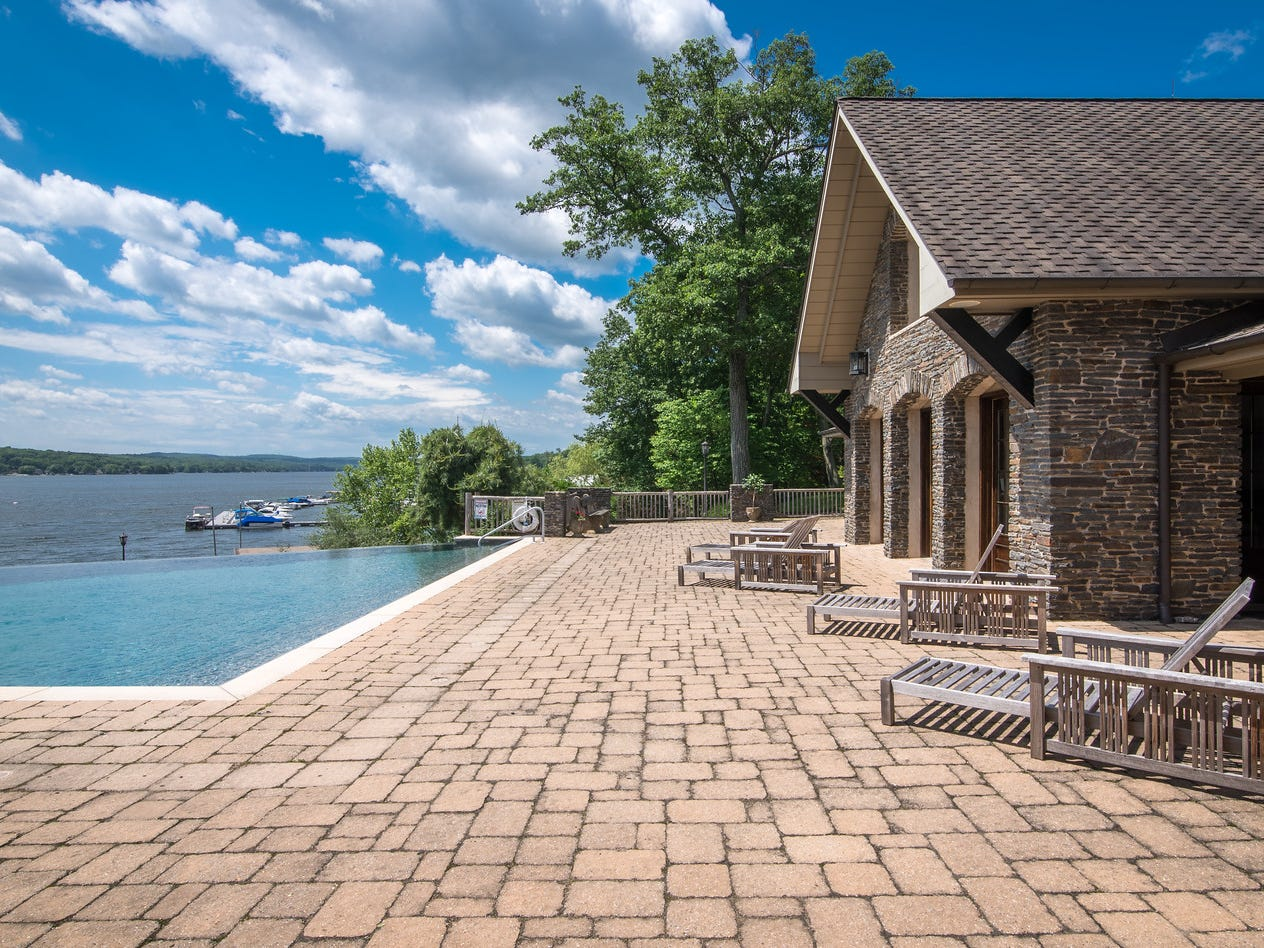 A 24-room estate on the shore of Greenwood Lake in New York State has been listed for sale at $14.75 million.