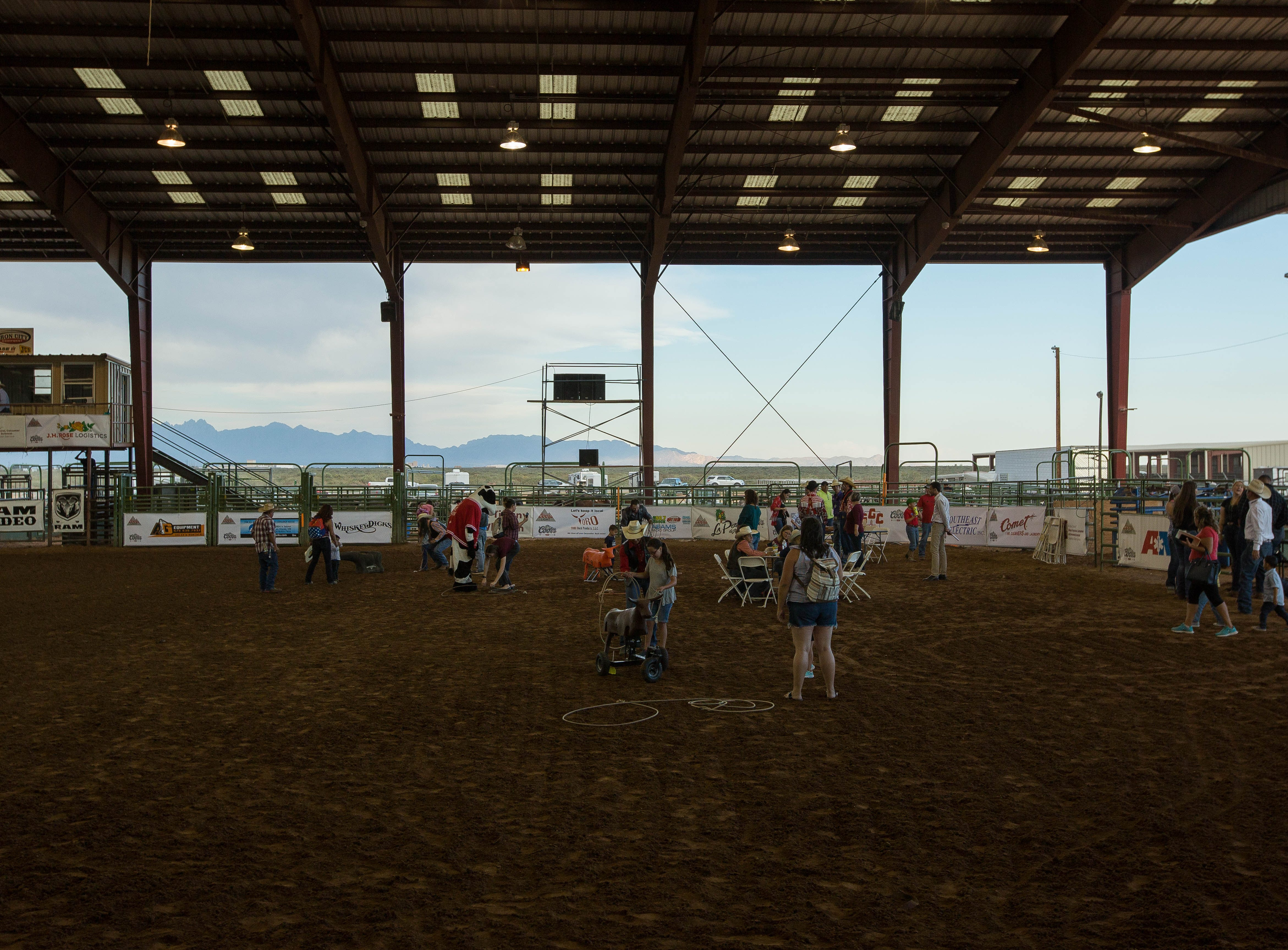 The Kid and Fans Zone in the Rodeo Arena at the Southern New Mexico State Fair and Rodeo,