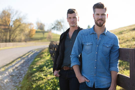 Curtis and Brad Rempel, members of the Canadian country music duo High Valley.