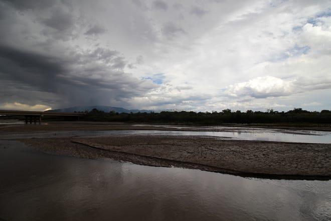 A storm brews near the Rio Grande in Albuquerque