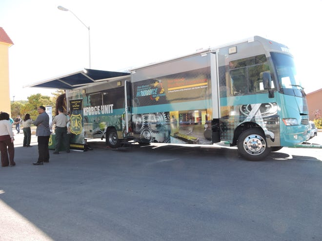 The Workforce Solutions Mobile Workforce Unit bus will feature information about jobs with the Forest Service at appearances in Alamogordo and Las Cruces.
