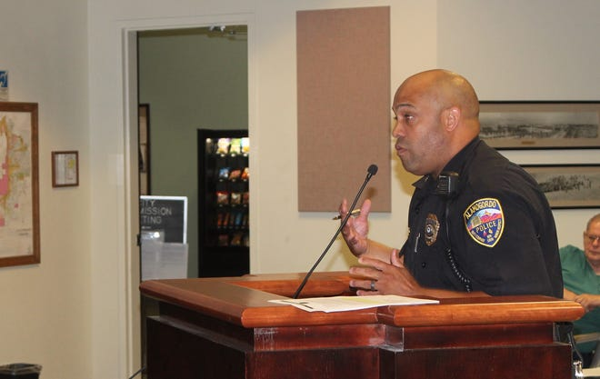APD Chief Brian Peete presented the Department's five-year plan to City Commissioners on Sept. 25.
