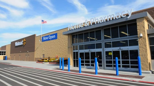 The remodeled Walmart Supercenter in New Hudson
