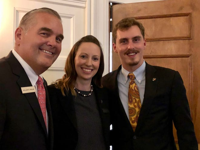 William Seklar, president and CEO of The Community House (from left), Jackie McIntosh, event producer, and Ryan Polk, board member, enjoy a pleasant moment at the Sip Wine and Food event.