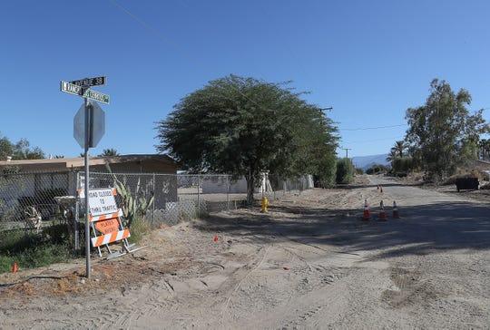 Rancho Los Cerritos Dr in north Indio is unpaved, September 26, 2018.