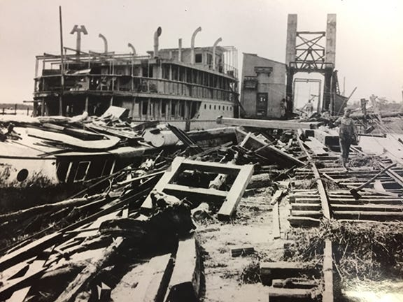 "The ""Great Miami"" hurricane battered the Pensacola area when it hit the region in September 1926."