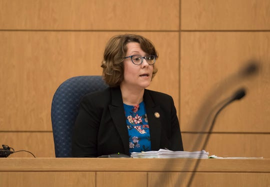 Shannon Elliott, of FDLE, testifies during the Mary Rice trial at the Escambia County Courthouse in Pensacola on Thursday, September 27, 2018.