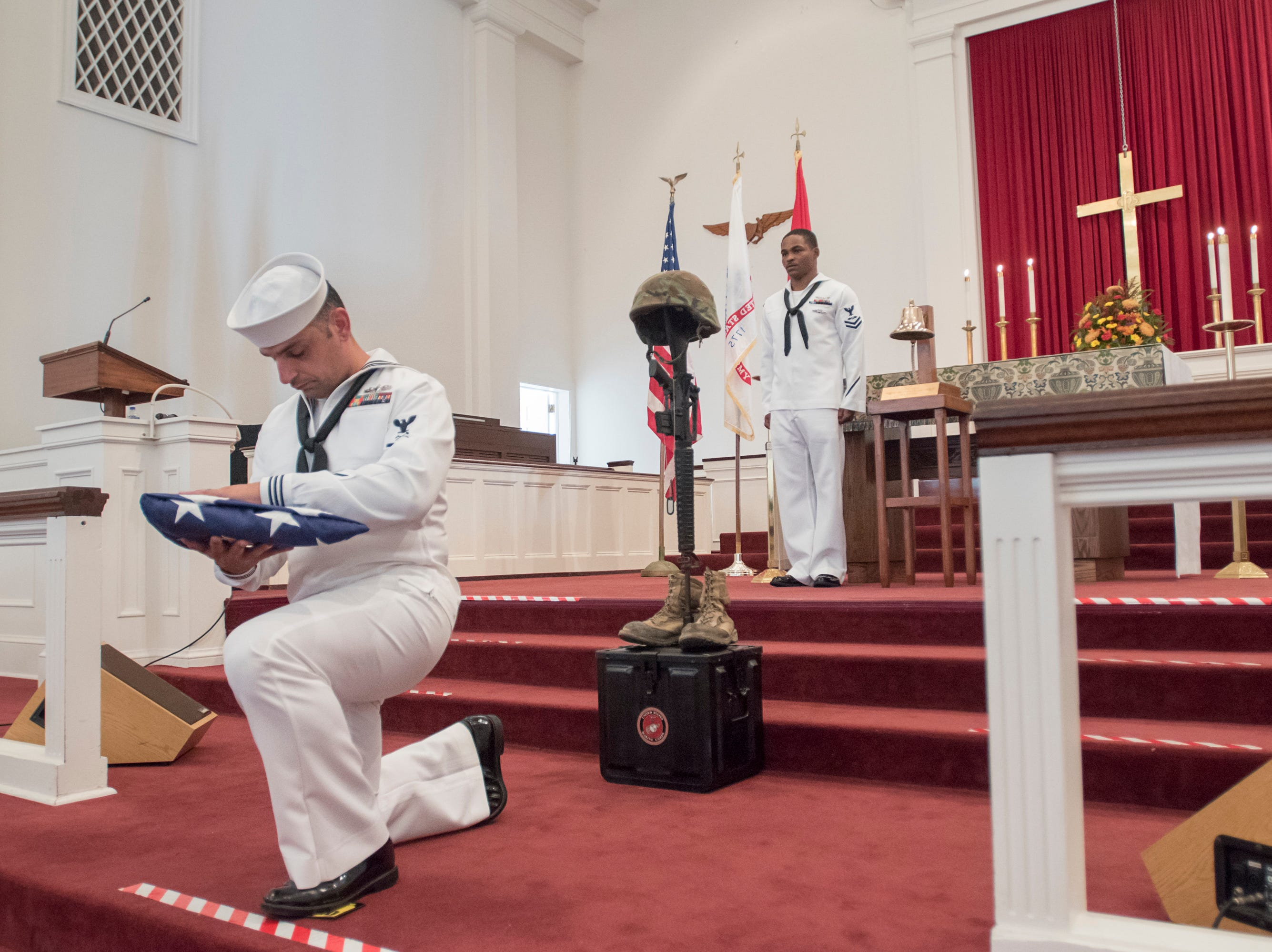 "The Gold Star Program's ""Bells Across America for Fallen Service Members"" remembrance ceremony was held at the Naval Air Station in Pensacola on Thursday, September 27, 2018."