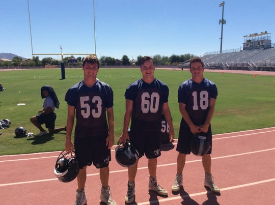 Wednesday, Sept. 26, 2018: Gilbert Perry's Tupen brothers (from left to right) Jake, Trenton, and Connor.