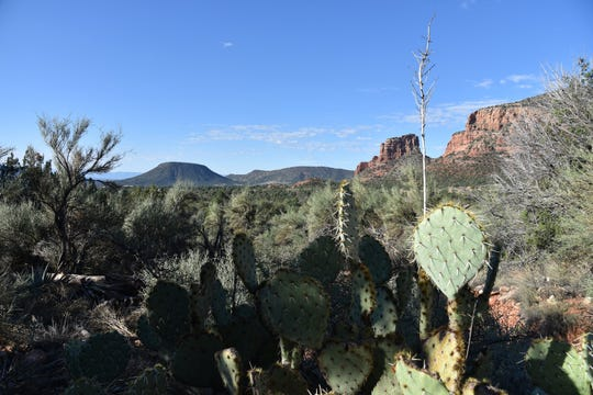 Looking south from Rector Connector Trail in Sedona.