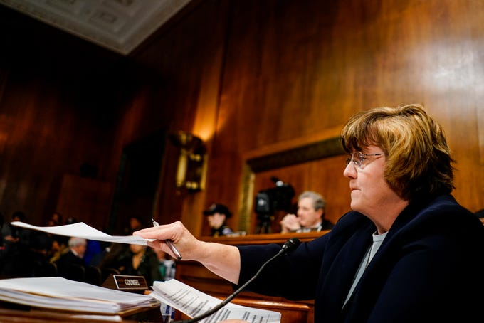 Rachel Mitchell at a Senate Judiciary Committee hearing on Sept. 27, 2018, on Capitol Hill.