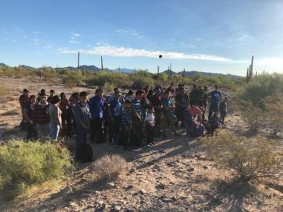 A group of 264 undocumented immigrants, seen here, were found in the Arizona desert earlier this year by U.S. Border Patrol agents. Two more groups totaling 124 people were found Nov. 28 in the state.