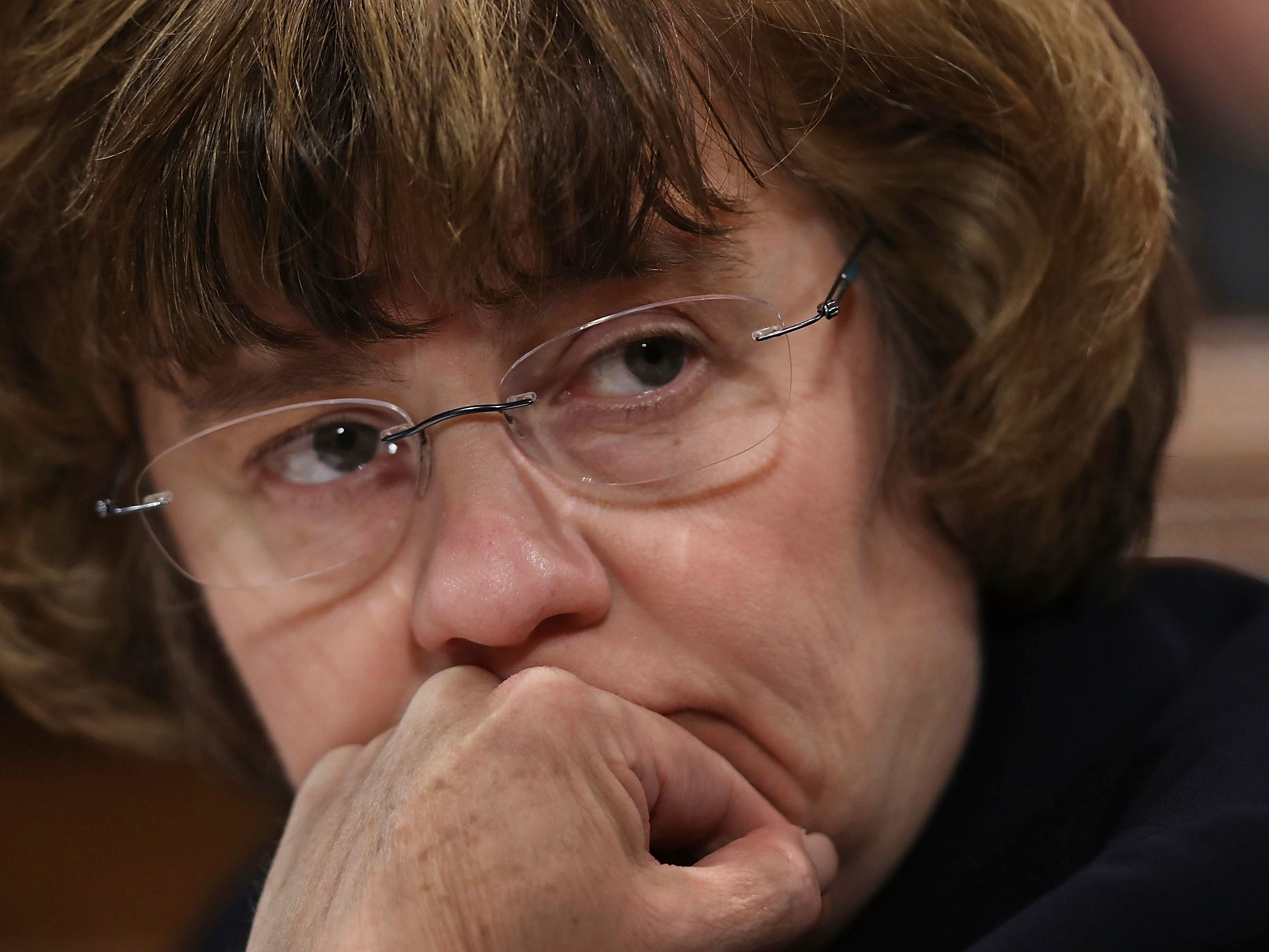 Phoenix prosecutor Rachel Mitchell prepares to question Christine Blasey Ford during a Senate Judiciary Committee hearing, Sept. 27, 2018, in Washington.