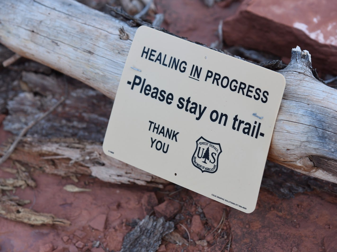 Stay on designated trails to protect the wilderness.