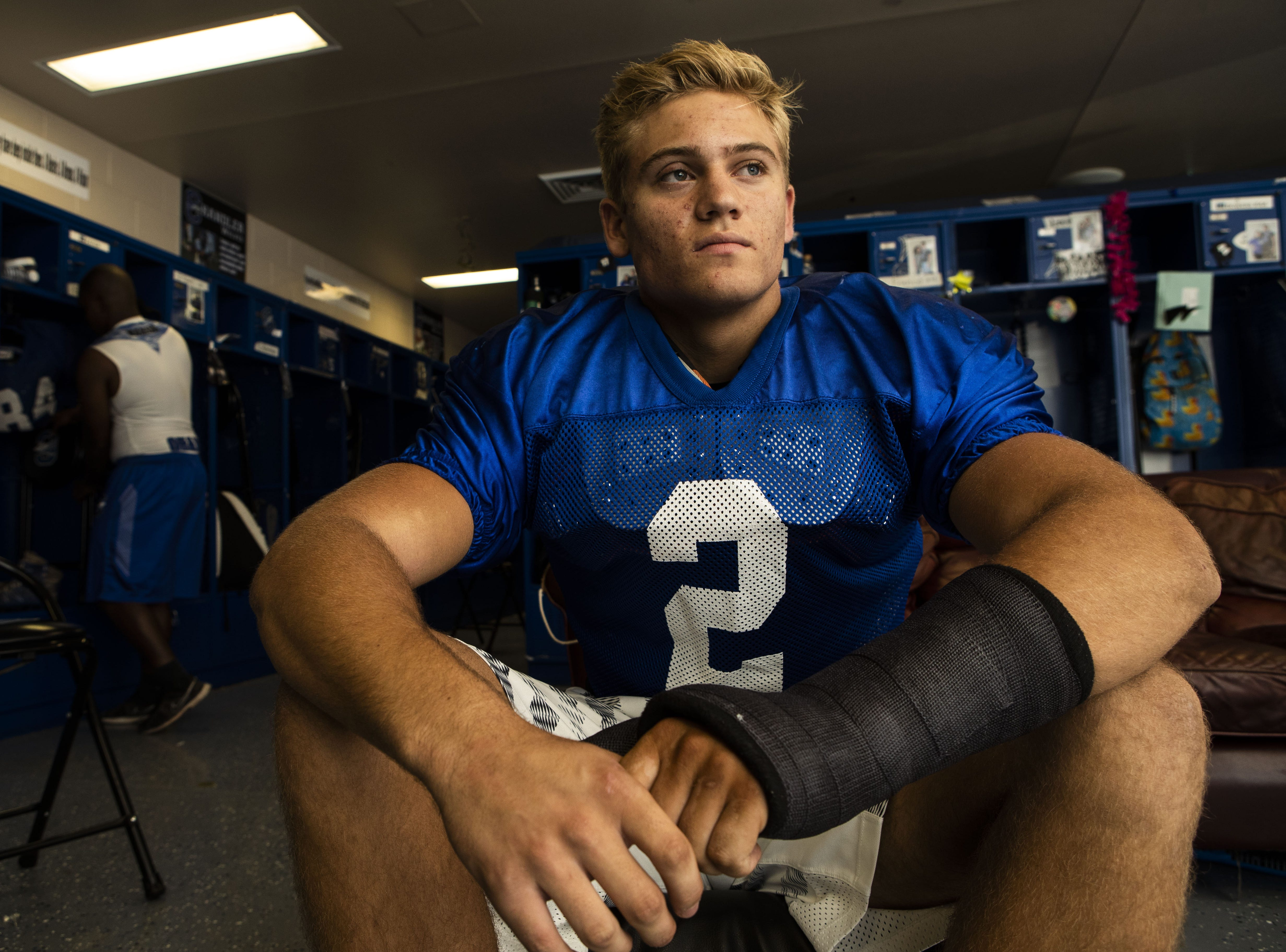 Chandler High School football player Line Backer Tate Romney will opting for church over college out of high school, going on 2-year missions before starting college career.