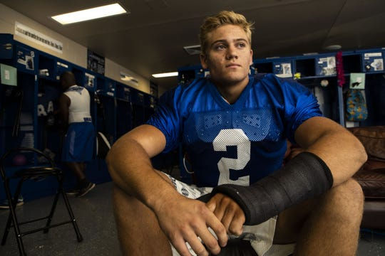 Chandler linebacker Tate Romney announced his intent to play at BYU, following his brothers to the school.