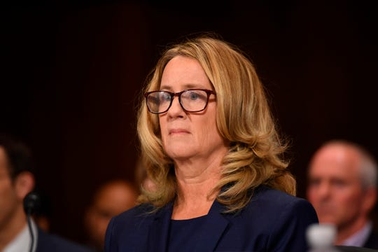 Christine Blasey Ford testifies to the Senate Judiciary Committee on Capitol Hill in Washington, D.C., on Sept. 27, 2018.