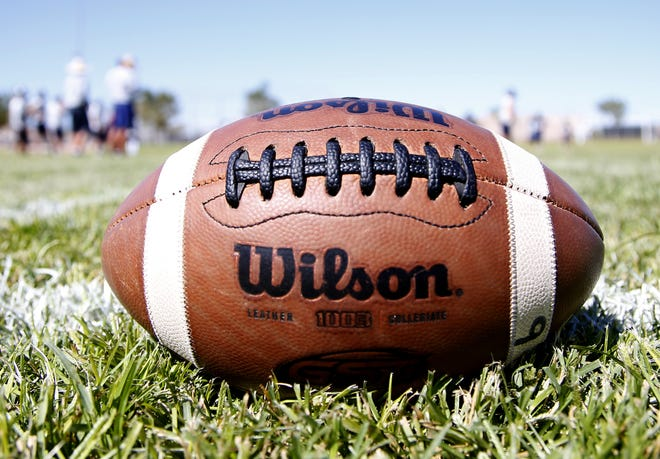 Perry High football team practices in Gilbert on September 26,  2018.