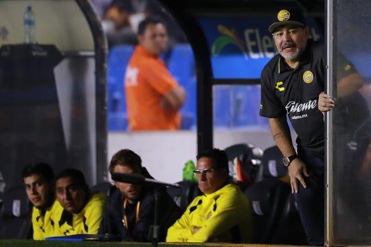 Pese a la eliminación de la Copa MX, Diego Armando Maradona dijo haber quedado contento con el desempeño de su equipo.