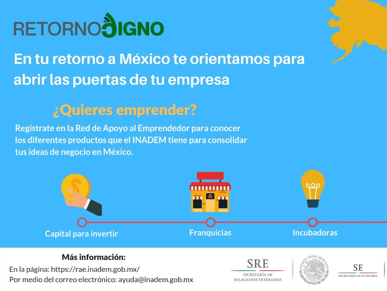 ¿Quiere emprender un negocio en México? ¡Regístrese en la Red de Apoyo al Emprendedor!