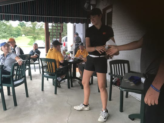 Palmyra's Kelsey McConaghy captured her second straight Lebanon County golf title on Thursday at Fairview.