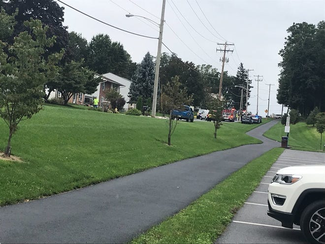 Emergency vehicles line Northwood court due to a possible gas leak on Sept. 27, 2018.
