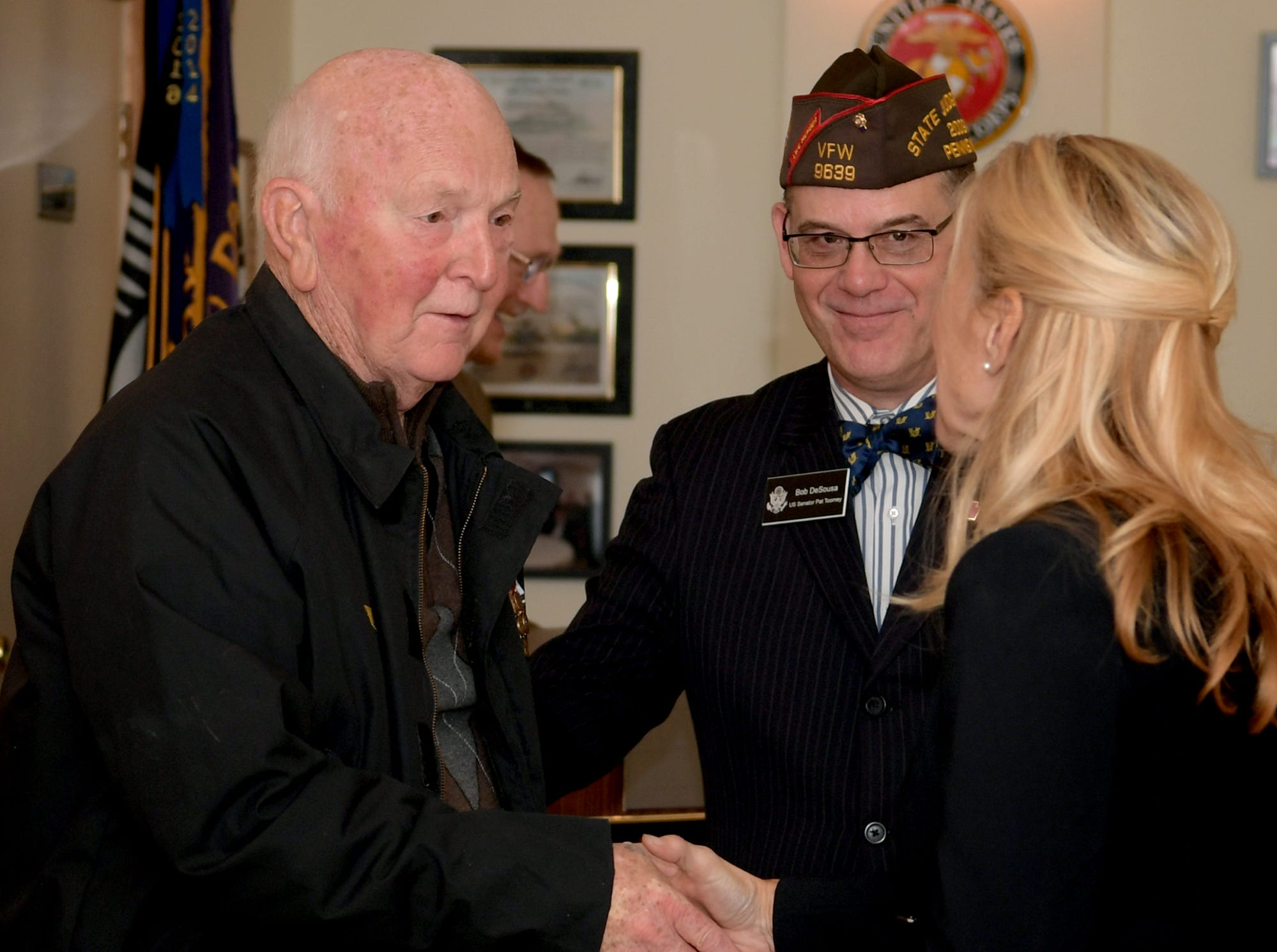 Area Korean War veterans received Ambassador for Peace Medals issued by the Korean government during a ceremony at the James A. Danner VFW Post #537 in Newberry Township Thursday, Sept. 27, 2018. The event was sponsored by PA State Representative Dawn Keefer in conjunction with U.S. Senator Pat Toomey's office, which assisted in procuring the medals. Bill Kalina photo