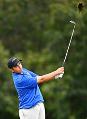 Spring Grove's Karl Frisk, shown here during the York-Adams League Individual Golf Championship in September, finished ninth at the PIAA Class 3-A tournament. Dawn J. Sagert photo