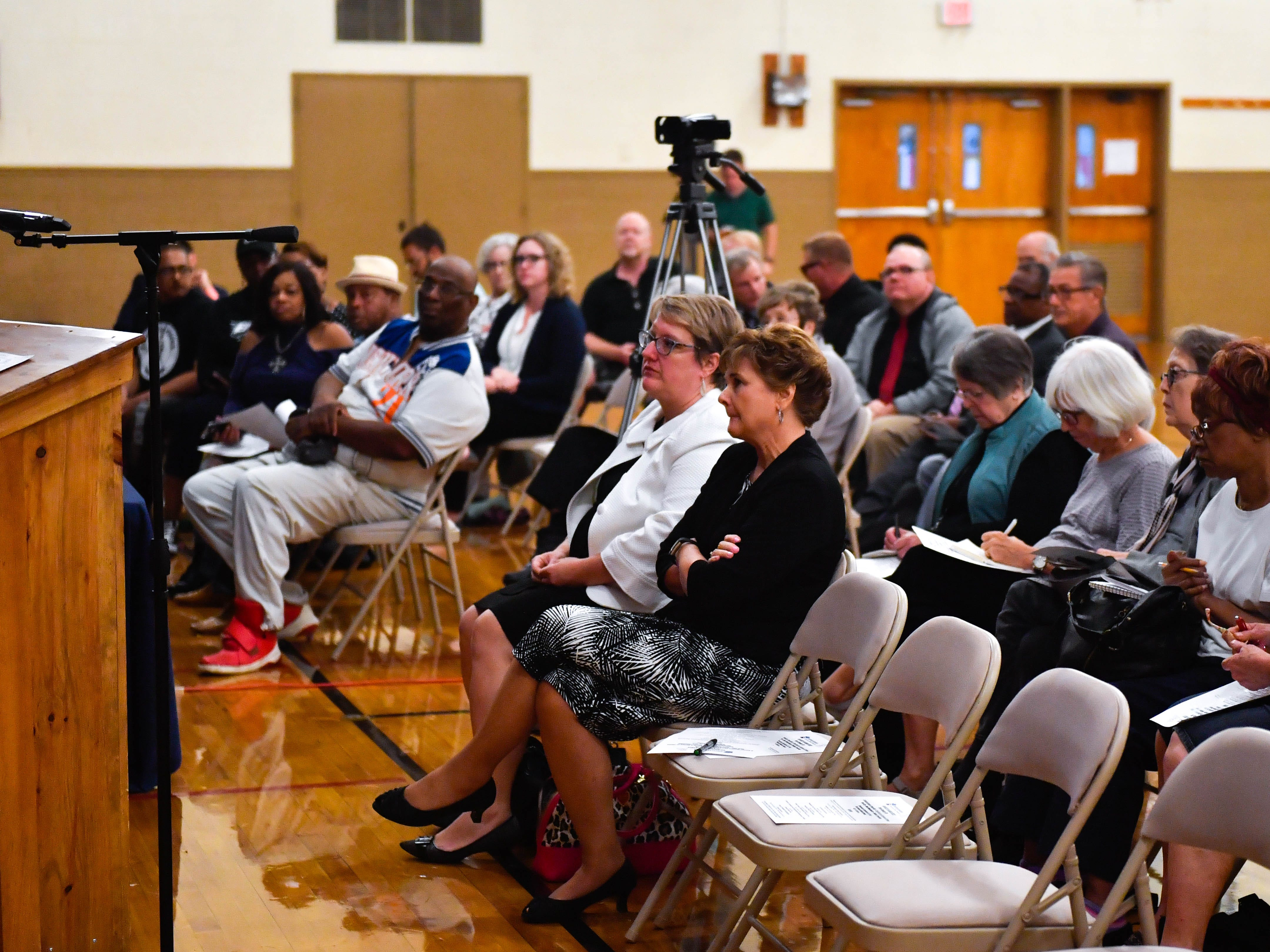 """People of all races and walks of life attended the """"No Hate in Our State"""" Social Justice Town Hall meeting at the Crispus Attucks Community Center, Wednesday, September 26, 2018."""