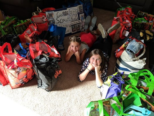 Members of the Girls Scouts of the Sierra Nevada, Troop #1625 made nearly 60 comfort bags for CASA. The bags include toys, blankets and toiletries for the children CASA volunteers work with.