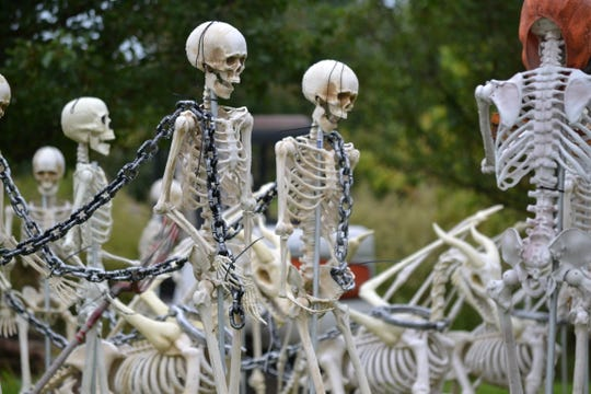 You never know what you'll find at one of the Pine Belt's reported most haunted places - maybe an army of skeletons will greet you.
