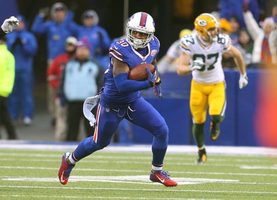 Bills backup safety Bacarri Rambo intercepted Green Bay Packers quarterback Aaron Rodgers twice as the Bills shocked the Packers.