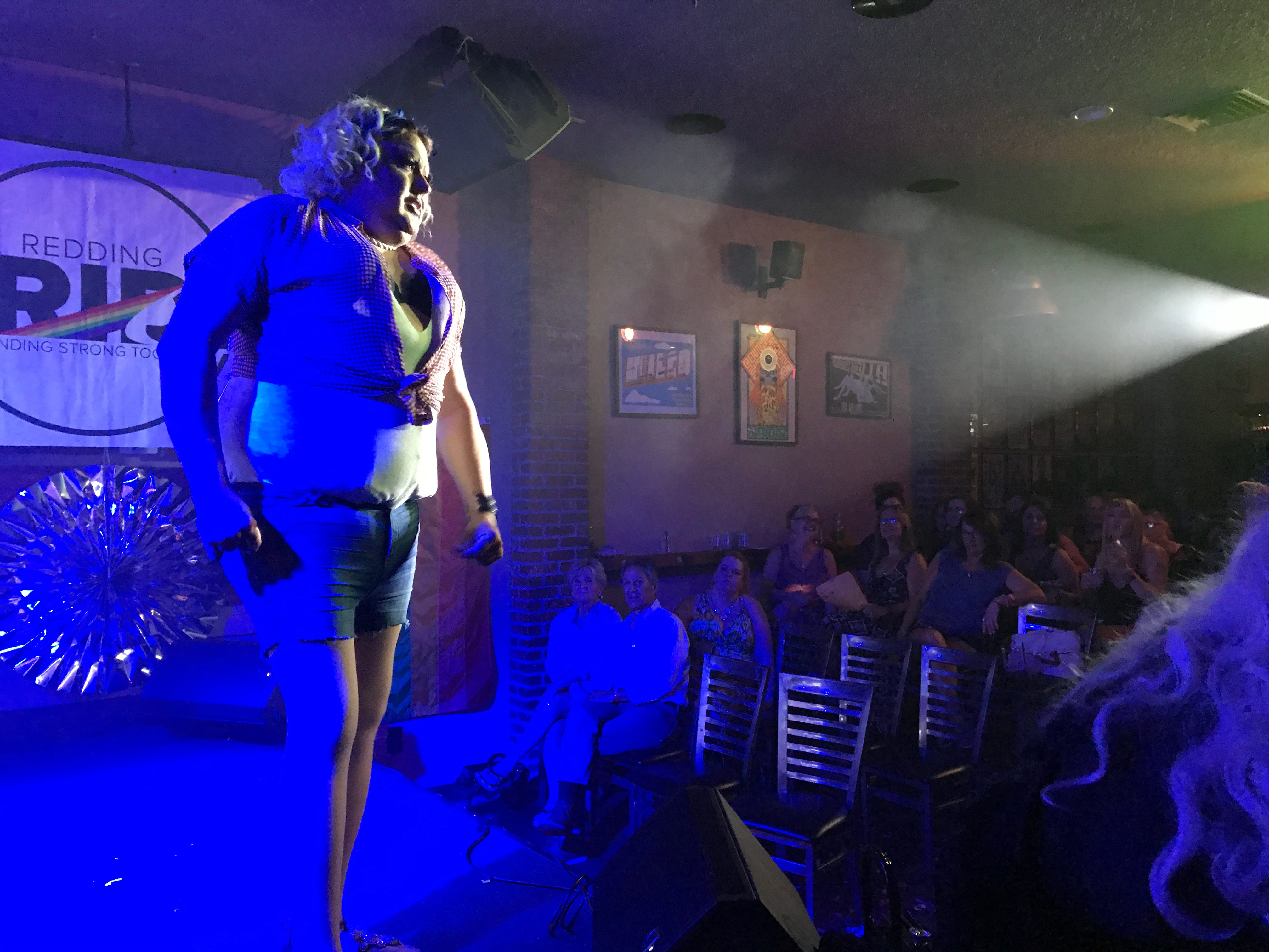 The Dip in Redding hosted drag queen and burlesque performers July 21, 2018.