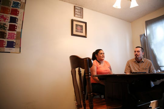 Matthew Boyd and Cassandra DeBeck are pictured in their Keizer home on Wednesday, Sept. 26, 2018. The couple found a home with the help of Salem's Homeless Rental Assistance Program.