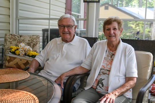 Chuck and Betty Jane Ertel sit in their Ocean Pines home on Wednesday, Sept 26, 2018.