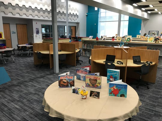 A media center inside the new West Salisbury Elementary was on display during a rededication ceremony at the school on Sept. 27, 2018.