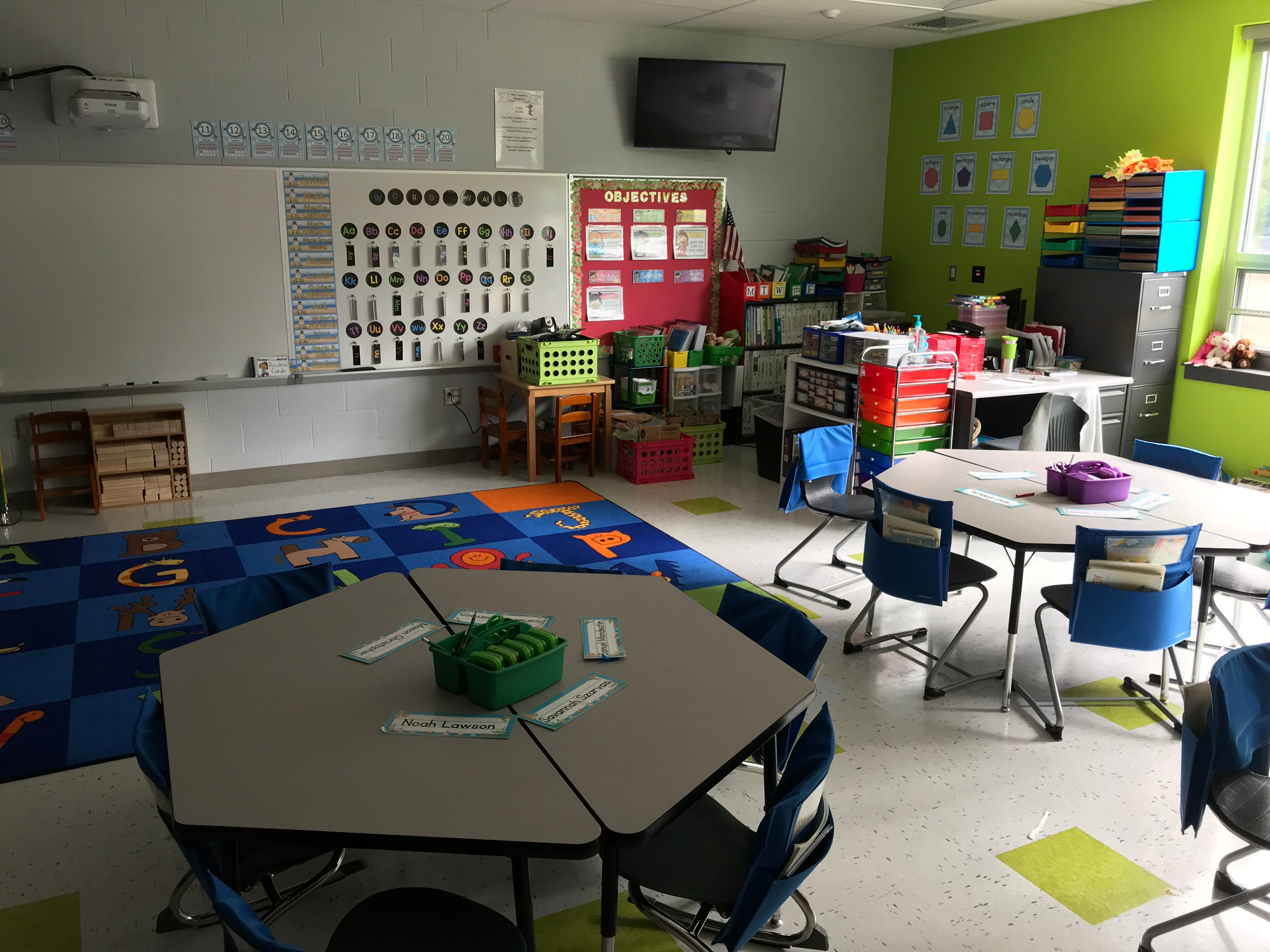 A classroom inside the new West Salisbury Elementary was on display during a rededication ceremony at the school on Sept. 27, 2018.