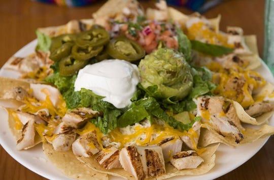 Nachos with fajita chicken at El Paso Mexican Grill.