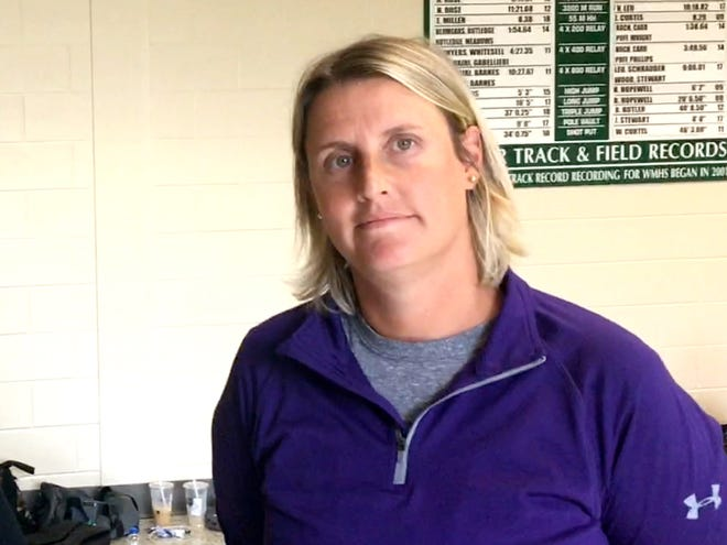 Waynesboro volleyball coach Lori Aleshire saw her team break a 38-game losing streak Wednesday night.