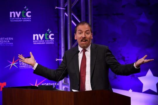 NBC's Chuck Todd moderated the Virginia Senatorial Debate between Tim Kaine and Corey Stewart on Wednesday night.