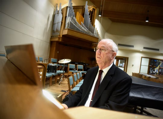 Organist Charles Echols plays a traditional piece of music on the updated pipe organ Thursday, Sept. 27, at Salem Lutheran Church in St. Cloud.