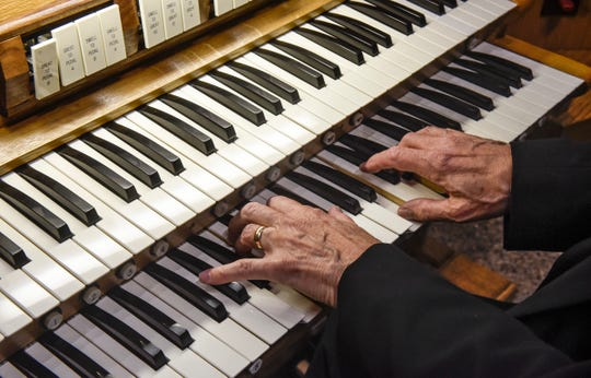 Organist Charles Echols plays the organ Thursday, Sept. 27, at Salem Lutheran Church in St. Cloud.