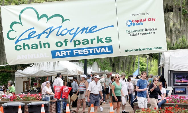 People enjoy a previous LeMoyne Chain of Parks festival. This year?s festival is this weekend.   Democrat files People enjoy the LeMoyne Chain of Parks festival Saturday, April 17, 2010 in Tallahassee, Fla.